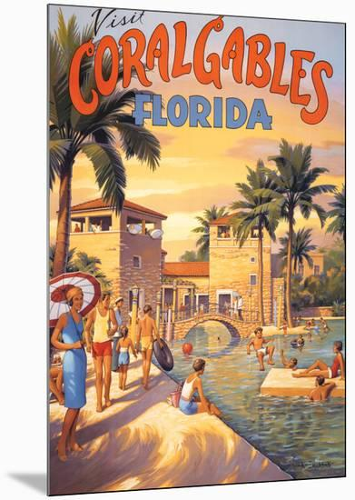 Visit Coral Gables, Florida-Kerne Erickson-Mounted Print