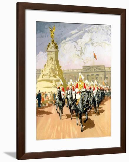 Visit London, British Rail-Gordon Nicoll-Framed Giclee Print