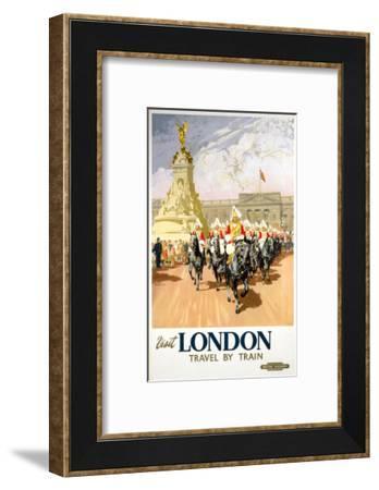 Visit London Travel by Train--Framed Art Print
