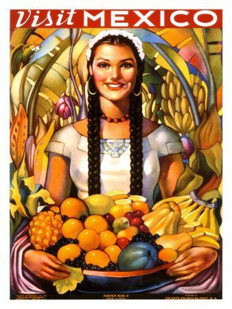 Visit Mexico, 1939--Giclee Print
