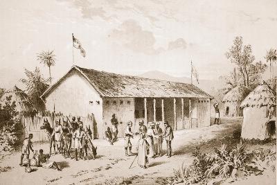 Visit of Arabs at Kwirara--Giclee Print