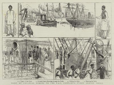 Visit of Colonial Guests to the P and O Company's Fleet, Albert Docks--Giclee Print