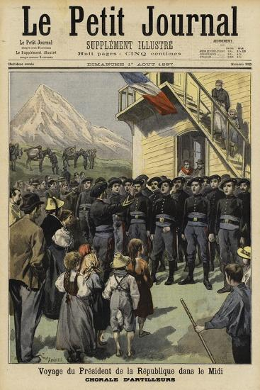Visit of French President Felix Faure to the Midi, 1897--Giclee Print