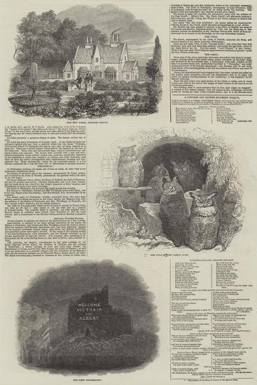 Visit of Her Majesty and Prince Albert to Arundel Castle--Giclee Print