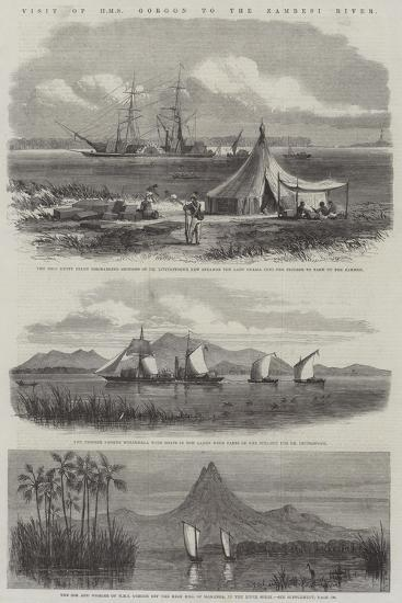 Visit of HMS Gorgon to the Zambesi River--Giclee Print
