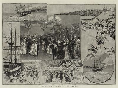 Visit of HMS Nelson to Melbourne--Giclee Print