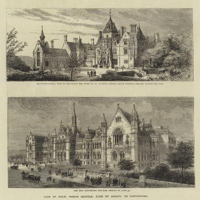 Visit of Hrh Prince Leopold, Duke of Albany, to Nottingham--Giclee Print