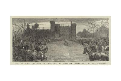Visit of Hrh the Duke of Connaught to Kilkenny Castle, Meet of the Foxhounds--Giclee Print