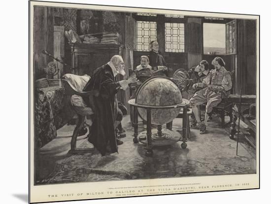 Visit of John Milton to Galileo at the Villa D'Arcetri, Near Florence, Italy-Tito Lessi-Mounted Giclee Print