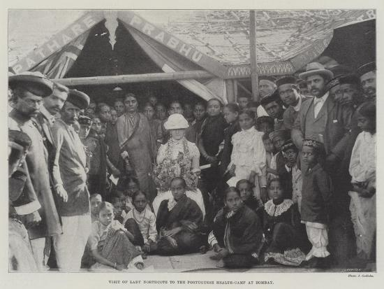 Visit of Lady Northcote to the Portuguese Health-Camp at Bombay--Giclee Print