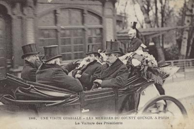 Visit of Members of the London County Council to Paris, 1906--Photographic Print