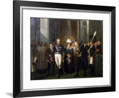 Visit of Prince of Salerno, Leopold of Bourbon to French Institute-Louis Nicolas Lemasle-Framed Giclee Print