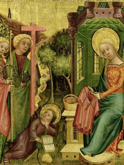Visit of the Angel, from the Right Wing of the Buxtehude Altar, 1400-10-Master Bertram of Minden-Giclee Print