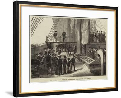 Visit of the Boys of the Clyde Training-Ship Cumberland to HMS Aurora--Framed Giclee Print