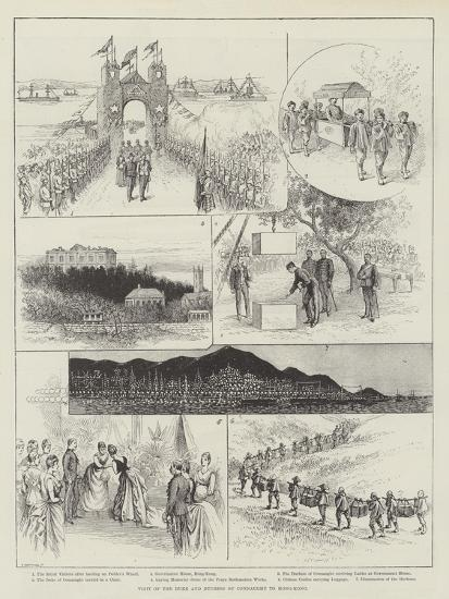 Visit of the Duke and Duchess of Connaught to Hong-Kong--Giclee Print