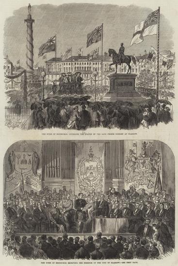 Visit of the Duke of Edinburgh at Glasgow--Giclee Print