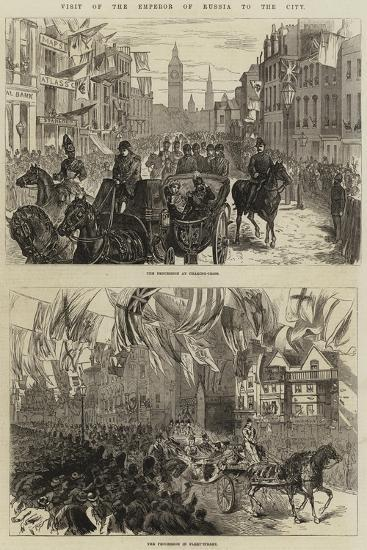 Visit of the Emperor of Russia to the City--Giclee Print