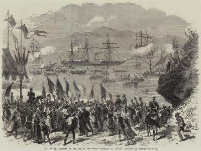 Visit of the Empress of the French and Prince Imperial to Corsica, Landing at Ajaccio--Giclee Print
