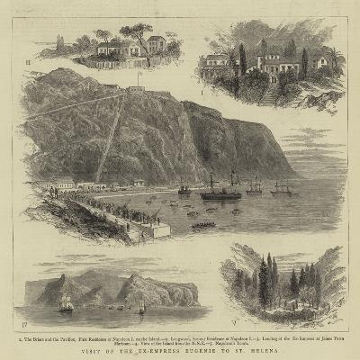 Visit of the Ex-Empress Eugenie to St Helena--Giclee Print