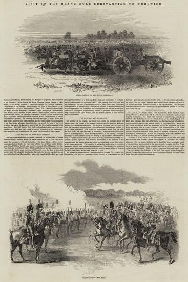 Visit of the Grand Duke Constantine to Woolwich--Giclee Print