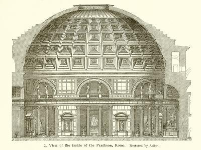Visit of the Inside of the Pantheon, Rome--Giclee Print