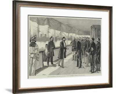 Visit of the Khedive to the Duke of Connaught on Board HMS Helicon-William Heysham Overend-Framed Giclee Print