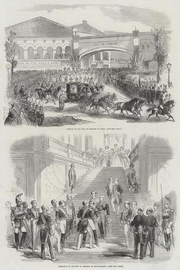 Visit of the King of Sardinia to France--Giclee Print