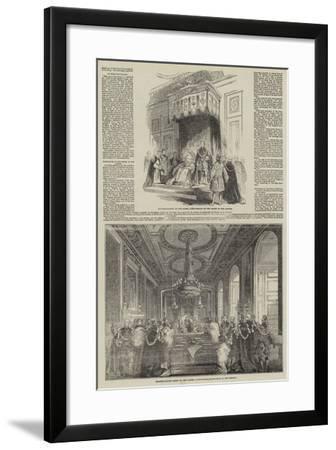 Visit of the King of the French to Queen Victoria--Framed Giclee Print