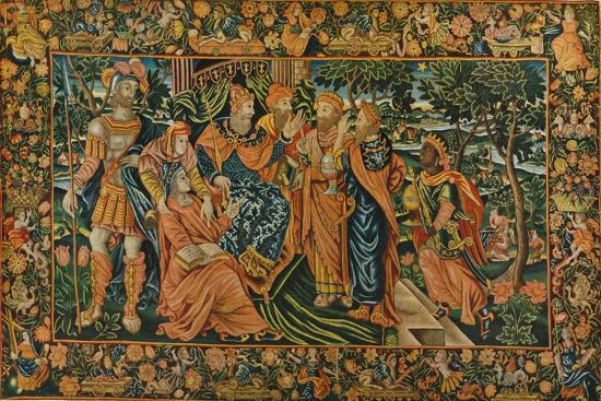 'Visit of the Magi to Herod: Elizabethan Petit-Point Panel', c16th century-Unknown-Giclee Print