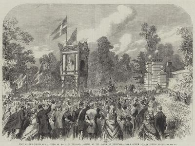 Visit of the Prince and Princess of Wales to Denmark, Arrival at the Castle of Bernstorf--Giclee Print