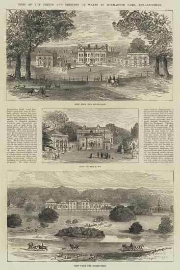 Visit of the Prince and Princess of Wales to Normanton Park, Rutlandshire--Giclee Print