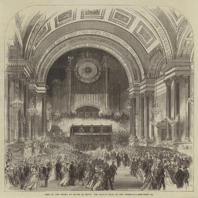 Visit of the Prince of Wales to Leeds, the Mayor's Ball at the Townhall--Giclee Print