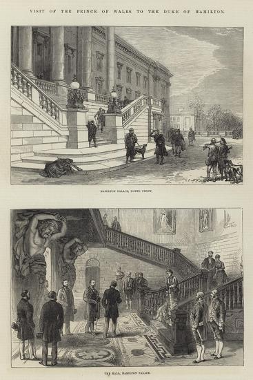 Visit of the Prince of Wales to the Duke of Hamilton--Giclee Print