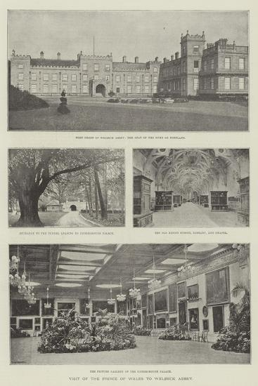 Visit of the Prince of Wales to Welbeck Abbey--Giclee Print