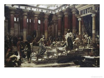 Visit of The Queen of Sheba to King Solomon-Edward John Poynter-Premium Giclee Print