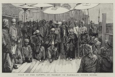Visit of the Sawbwa of Thebaw to Mandalay, Upper Burma--Giclee Print