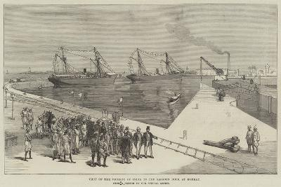 Visit of the Viceroy of India to the Sassoon Dock at Bombay--Giclee Print
