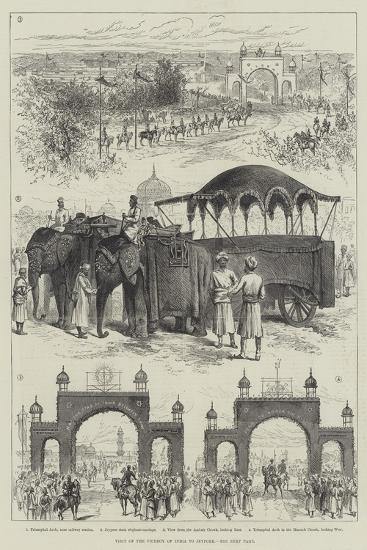 Visit of Viceroy of India to Jeypore--Giclee Print