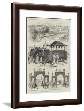 Visit of Viceroy of India to Jeypore--Framed Giclee Print