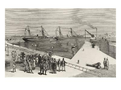 Visit of Viceroy of India to the Sassoon Dock at Bombay, from 'The Illustrated London News'-English School-Giclee Print
