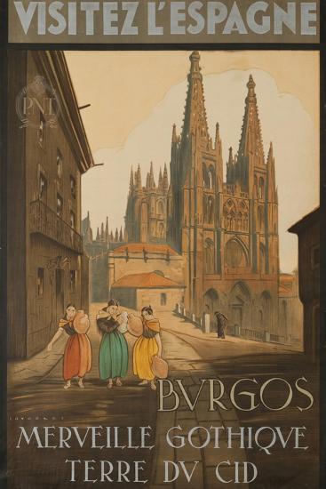 Visit Spain, Burgos, Marvelous Gothic Land of El Cid--Giclee Print