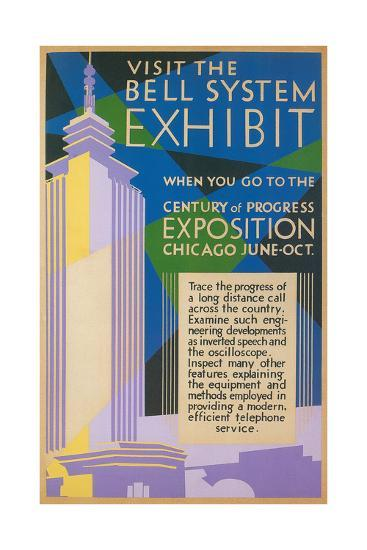 Visit the Bell System Exhibit Poster, Chicago World's Fair, 1935--Giclee Print