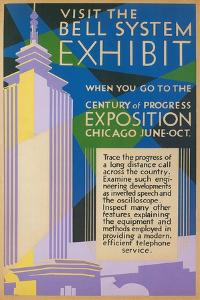 Visit the Bell System Exhibit Poster, Chicago World's Fair, 1935