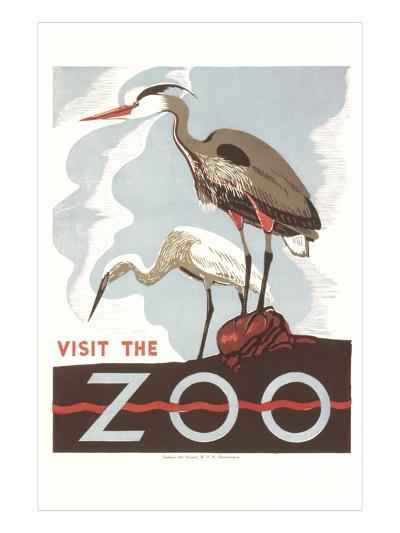 Visit the Zoo, Cranes--Art Print
