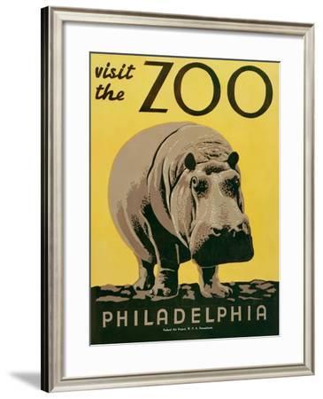 Visit the Zoo--Framed Art Print