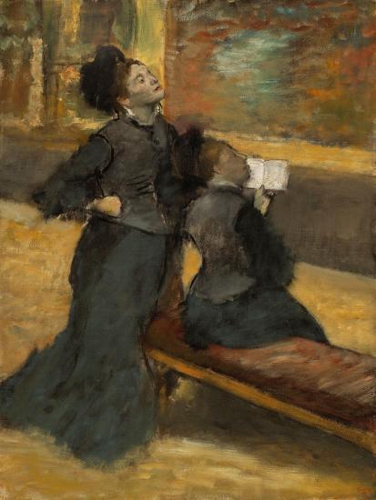 Visit to a Museum by Edgar Degas-Edgar Degas-Giclee Print