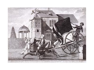 Visit to Mr Deputy - at His Modern Built Villas Near Clapham, London, C1750--Giclee Print