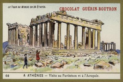 Visit to the Parthenon and the Acropolis, Athens--Giclee Print