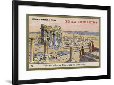 Visit to the Ruins of Timgad, Near Constantine--Framed Giclee Print