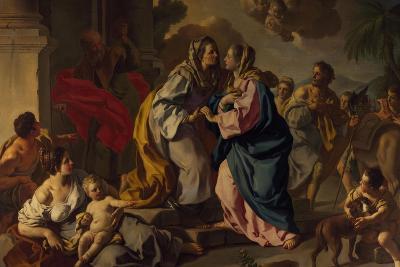 Visitation, Oil Painting-Francesco de Mura-Giclee Print